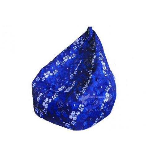Кресло груша Принт Синие цветы