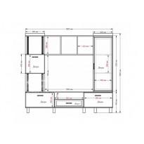 Вітальня - 048 Тиса меблі (пряма стінка для Вітальні)