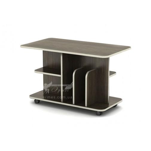 Журнальный столик Бавария СЖ Тиса мебель (с полочками на колесиках)