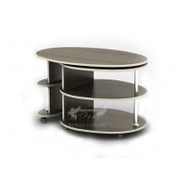 Журнальный столик Бюрократ СЖ Тиса мебель (на колесиках с полочкой)