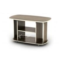 Журнальный столик Милан СЖ Тиса мебель (с полосками на колесиках)