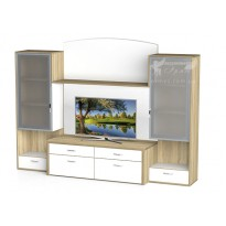 Гостиная - 110 Тиса мебель (прямая с витринами)