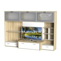 Гостиная - 114 Тиса мебель (прямая стенка для гостиной)