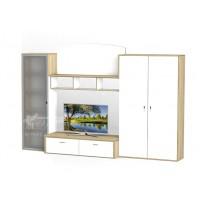 Гостиная - 120 Тиса мебель (прямая с открытыми полками)