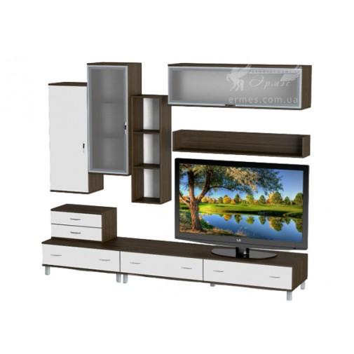 Гостиная - 017 Тиса мебель (прямая стенка для гостиной)