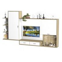 Гостиная - 204 Тиса мебель (пряма с открытыми полками)