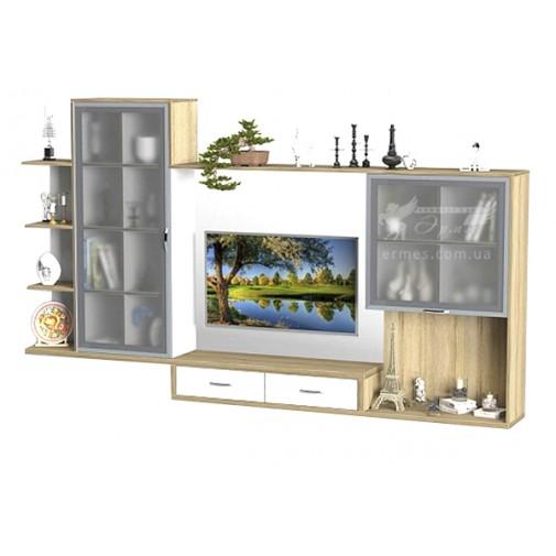 Гостиная - 205 Тиса мебель (с закрытыми витринами)