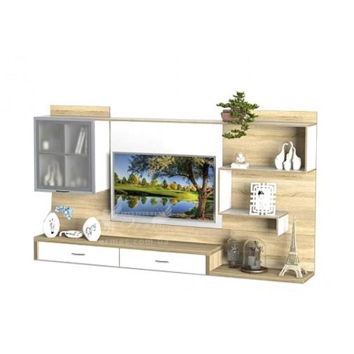 Гостиная - 211 Тиса мебель (прямая стенка для гостиной)