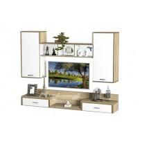 Гостиная - 214 Тиса мебель (прямая стенка для гостиной)
