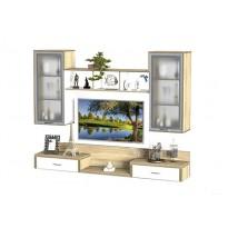 Гостиная - 215 Тиса мебель (прямая настенная)