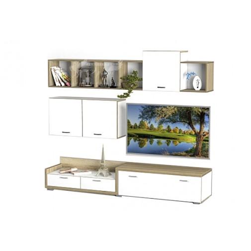 Гостиная - 220 Тиса мебель (навесная, прямая стенка для гостиной)
