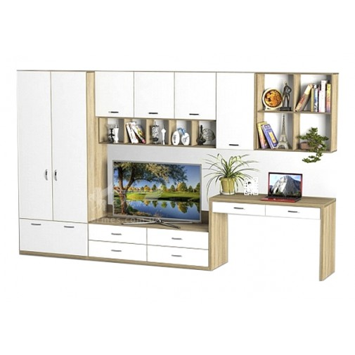 Гостиная - 228 Тиса мебель (прямая стенка для гостиной)