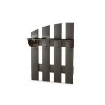 Вешалка-8 Тиса мебель (широкая с полочкой)