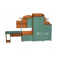 Дитяча Престиж Д-6 (1) Тиса меблі (з гардеробом)