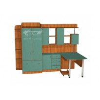 Дитяча Престиж Д-15 (4) Тиса меблі (з робочим місцем)