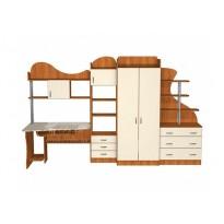Дитяча Престиж Д-16 (2) Тиса меблі (з робочим місцем и шафою)