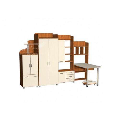 Детская Престиж Д-17(1)  Тиса мебель (с ящиками и открытыми полками)