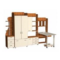 Детская Престиж Д-17(3)  Тиса мебель (с рабочим местом для подростка)