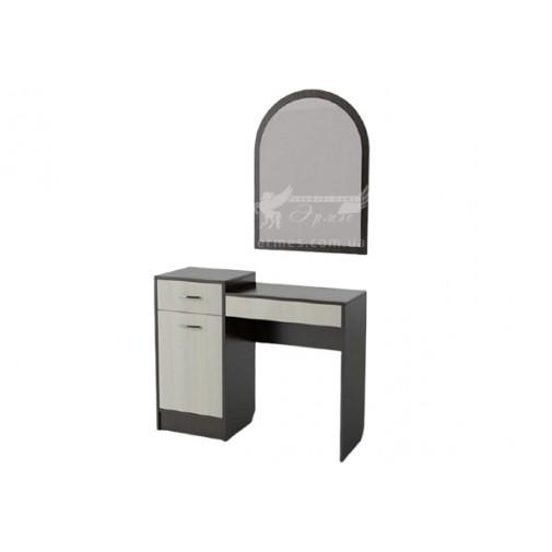 Будуарний столик БС-03 Тиса меблі (з тумбою и з ящиками)