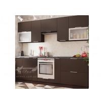 """Кухня """"FLAT"""" комплект №2 Vip-master (прямая со стеклянными фасадами)"""