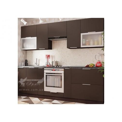 "Кухня ""FLAT"" комплект №2 Vip-master (пряма зі скляними фасадами)"