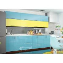 """Кухня """"Color-mix"""" комплект №1 Vip-master (прямая с цветными фасадами)"""