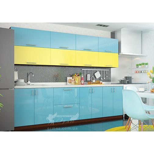 """Кухня """"Color-mix"""" комплект №1 Vip-master (пряма з кольоровими фасадами)"""