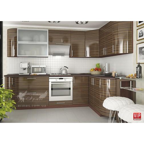 """Кухня """"МоДа"""" комплект №4 Vip-master (угловая с закругленными фасадами)"""