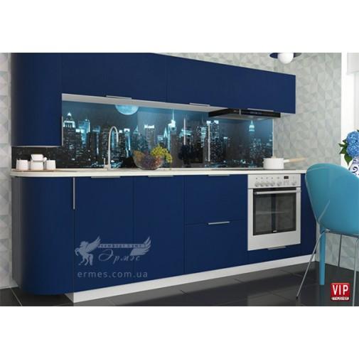 "Кухня ""FLAT"" комплект №3 Vip-master (пряма із закругленими фасадами)"