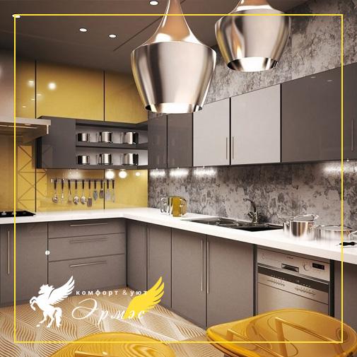 5 стильных сочетаний кухонного фартука и гарнитура