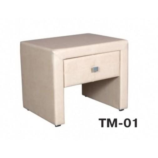 Тумба прикроватная ТМ-01 Melbi (мягкая с ящиком)