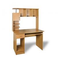 """Компьютерный стол """"Логика"""" Тиса мебель (с верхней открытой надстройкой)"""