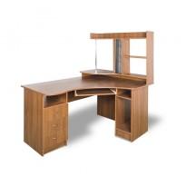 """Комп'ютерний стіл """"Майстер"""" Тиса меблі (широкий з бічної надбудовою)"""