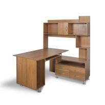 """Компьютерный стол """"Моби"""" Тиса мебель (угловой с широкой надстройкой)"""
