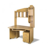"""Комп'ютерний стіл """"Студіо"""" Тиса меблі (з скроню надбудовою та мобільною тумбою)"""