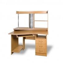 """Компьютерный стол """"Контур"""" Тиса мебель (с открытой надстройкой)"""