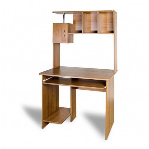 """Компьютерный стол """"Омега"""" Тиса мебель (с высокой надстройкой)"""