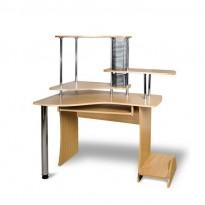 Компьютерный стол  Х-ТРА Тиса мебель (угловой с надстройкой)