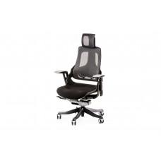 Кресло руководителя Wau black fabric, charcoal nеtwork Е0789 Special4You